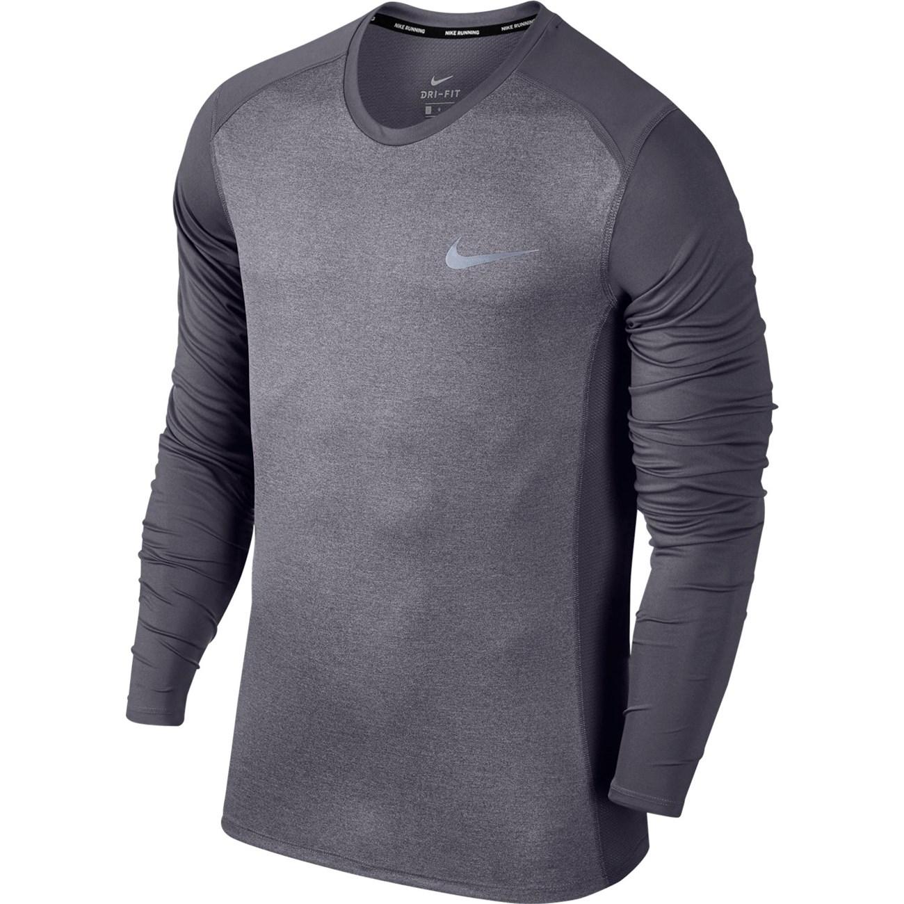 NIKE M NIKE MILER TOP LS   Ανδρικά Μακρυμάνικα T-shirts  ff53d957d54