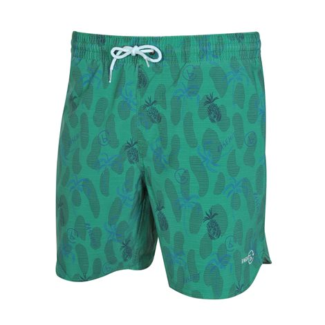 BASEHIT Small Pineapple & Palm Beach Shorts 0